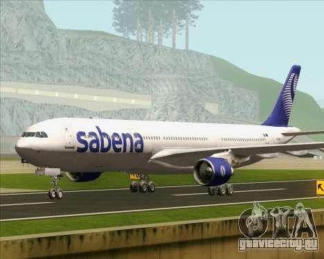 Airbus A330-300 Sabena для GTA San Andreas вид сзади слева