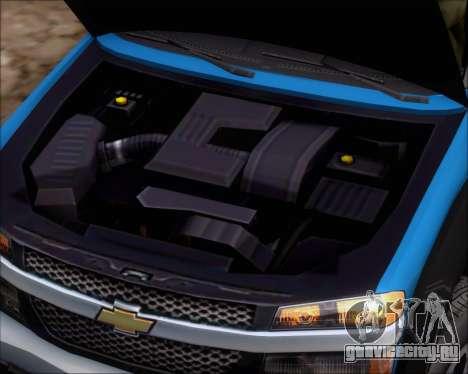 Chevrolet Colorado для GTA San Andreas вид сзади
