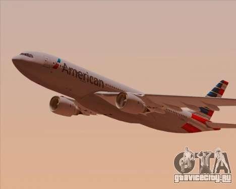 Airbus A330-200 American Airlines для GTA San Andreas салон