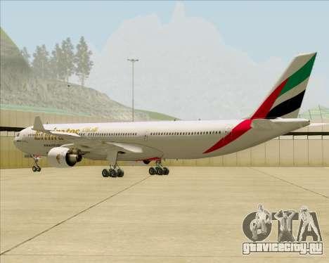 Airbus A330-300 Emirates для GTA San Andreas вид справа