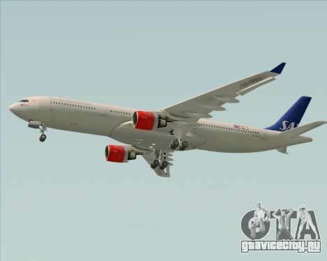 Airbus A330-300 Scandinavian Airlines System. для GTA San Andreas вид сзади