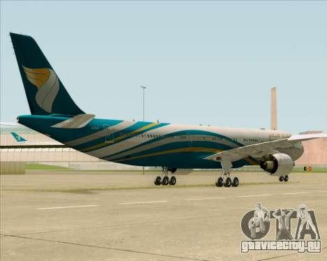 Airbus A330-300 Oman Air для GTA San Andreas вид изнутри