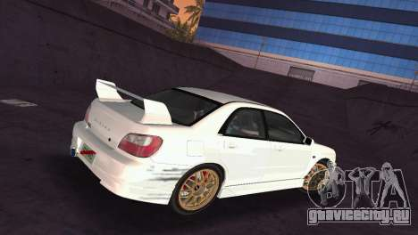 Subaru Impreza WRX 2002 Type 2 для GTA Vice City вид сбоку