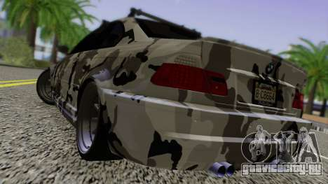 BMW M3 E46 Coupe 2005 Hellaflush v2.0 для GTA San Andreas вид сзади слева