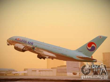 Airbus A380-800 Korean Air для GTA San Andreas вид справа