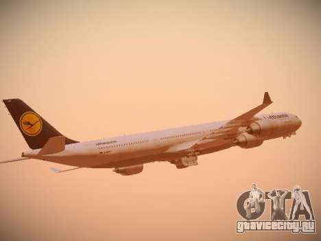 Airbus A340-600 Lufthansa для GTA San Andreas вид сверху