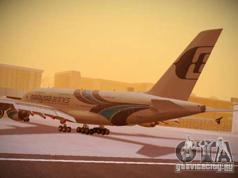 Airbus A380-800 Malaysia Airlines для GTA San Andreas вид снизу