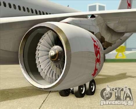 Airbus A330-300 Dragonair для GTA San Andreas вид изнутри
