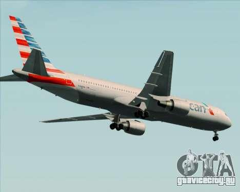 Boeing 767-323ER American Airlines для GTA San Andreas вид сзади