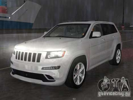 Jeep Grand Cherokee SRT-8 (WK2) 2012 для GTA Vice City вид сзади