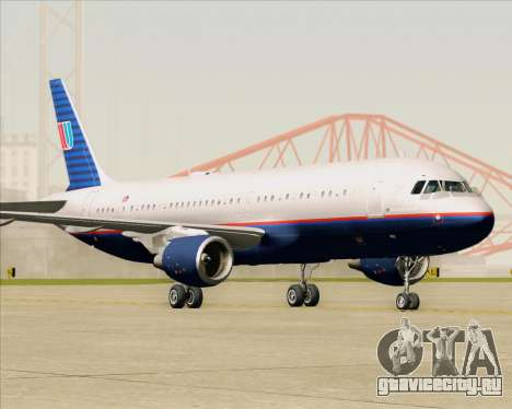 Airbus A320-232 United Airlines (Old Livery) для GTA San Andreas вид слева