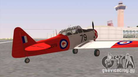 North American T-6 TEXAN NZ1079 для GTA San Andreas вид слева