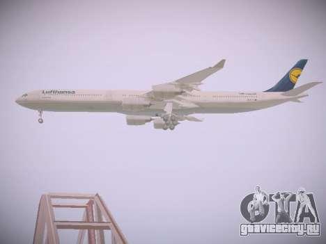 Airbus A340-600 Lufthansa для GTA San Andreas вид сбоку