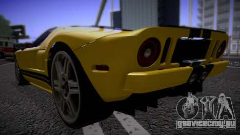 Ford GT 2005 Road version для GTA San Andreas вид сзади слева