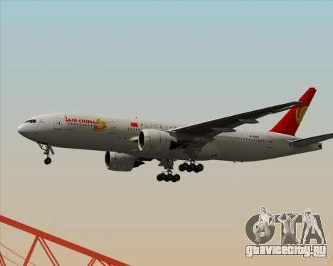 Boeing 777-200ER Air China для GTA San Andreas вид сзади слева