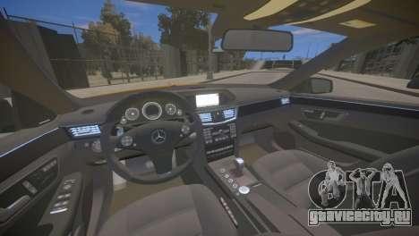 Mercedes-Benz E63 AMG для GTA 4 для GTA 4 вид изнутри