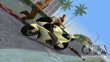 Aprilia RSV4 2009 White Edition II для GTA Vice City вид сзади