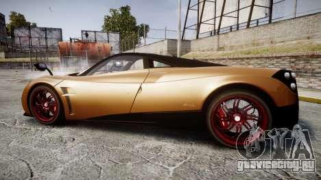 Pagani Huayra 2013 для GTA 4 вид слева