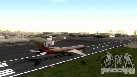 Boeing 777-280ER Asiana Airlines для GTA San Andreas вид сзади
