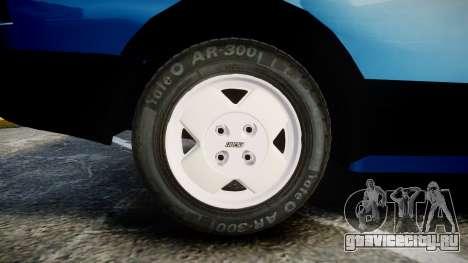 Fiat 147 Spazio-TR для GTA 4 вид сзади