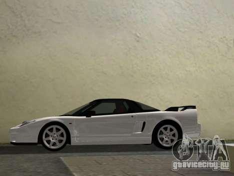 Honda NSX-R для GTA Vice City вид изнутри