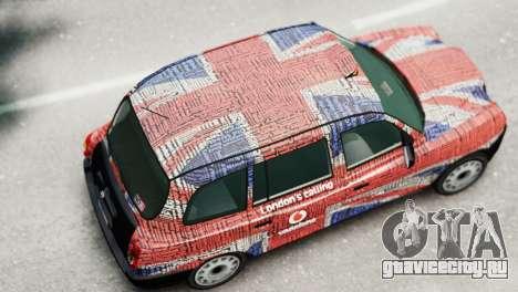 London Taxi Cab v2 для GTA 4 вид сзади слева