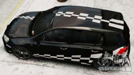 Volkswagen Golf R 2010 MTM Paintjob для GTA 4 вид сзади слева