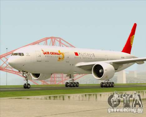 Boeing 777-200ER Air China для GTA San Andreas вид изнутри