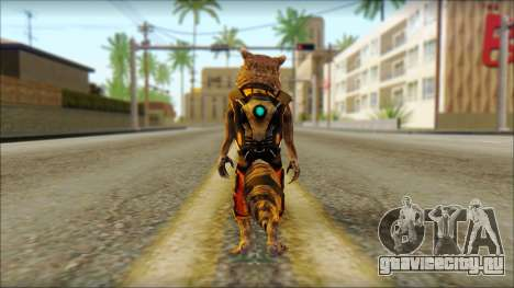 Guardians of the Galaxy Rocket Raccoon v2 для GTA San Andreas второй скриншот