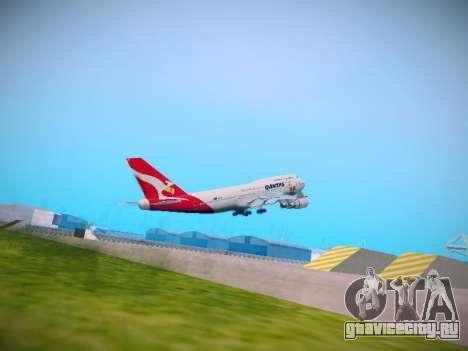 Boeing 747-438 Qantas Boxing Kangaroo для GTA San Andreas вид справа