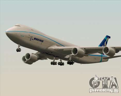 Boeing 747-8 Cargo House Livery для GTA San Andreas вид сзади слева