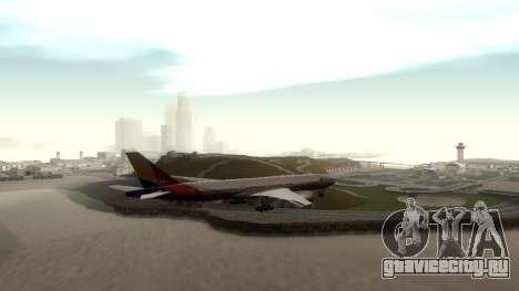 Boeing 777-280ER Asiana Airlines для GTA San Andreas вид справа