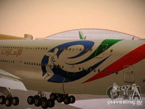 Airbus A380-800 Emirates Rugby World Cup для GTA San Andreas вид изнутри