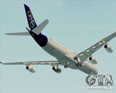 Airbus A340-313 Olympic Airlines для GTA San Andreas вид сверху