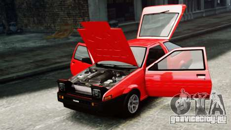 Toyota Sprinter Trueno AE86 SR для GTA 4 вид справа