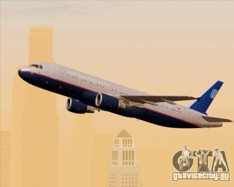 Airbus A320-232 United Airlines (Old Livery) для GTA San Andreas вид изнутри