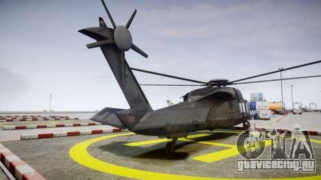 Sikorsky MH-X Silent Hawk [EPM] v2.0 для GTA 4 вид сзади слева