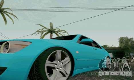 Toyota Altezza для GTA San Andreas вид сбоку
