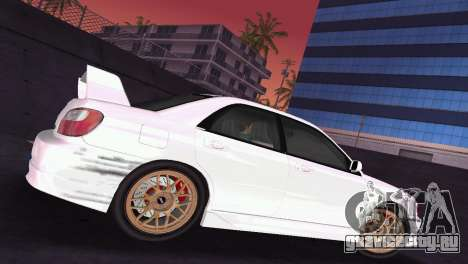 Subaru Impreza WRX 2002 Type 2 для GTA Vice City вид изнутри