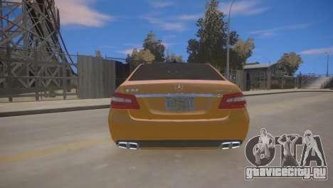 Mercedes-Benz E63 AMG для GTA 4 для GTA 4 вид справа