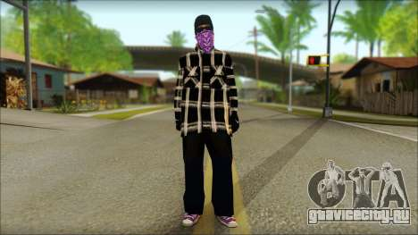 East Side Ballas Skin 3 для GTA San Andreas