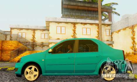 Dacia Logan Delta Garage для GTA San Andreas вид справа