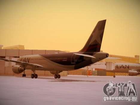 Airbus A320-214 LAN Airlines для GTA San Andreas вид сзади слева