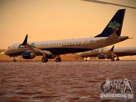 Embraer E190 Azul Brazilian Airlines для GTA San Andreas вид справа