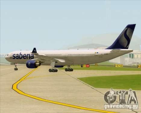 Airbus A330-300 Sabena для GTA San Andreas вид сзади
