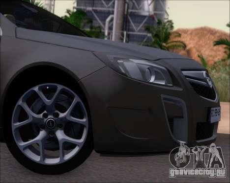 Opel Insignia OPC для GTA San Andreas вид изнутри