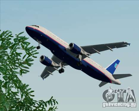 Airbus A320-232 United Airlines (Old Livery) для GTA San Andreas салон