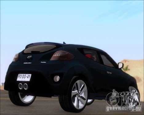Hyundai Veloster 2013 для GTA San Andreas вид справа