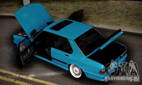 BMW M5 E28 для GTA San Andreas вид снизу