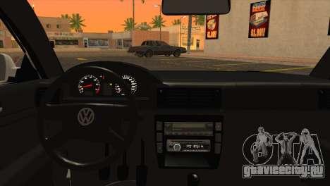 Volkswagen Passat B5 для GTA San Andreas вид сзади слева
